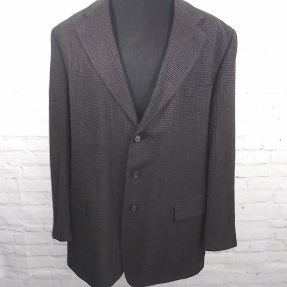 Givenchy Other - Vtg Givenchy Monsieur 3 Button Blazer 50R Wool